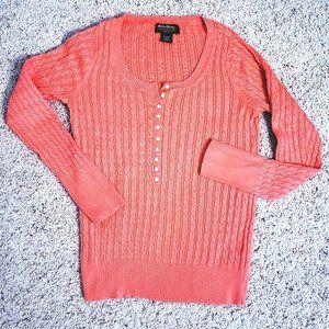 EUC Eddie Bauer Scoopneck Cable Sweater M
